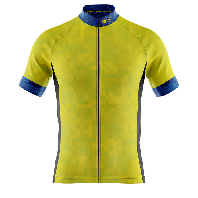 Big and Tall Mens Cove Cycling Jersey in Cube Hi Vis