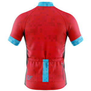 Mens Red Cube Cycling Jersey