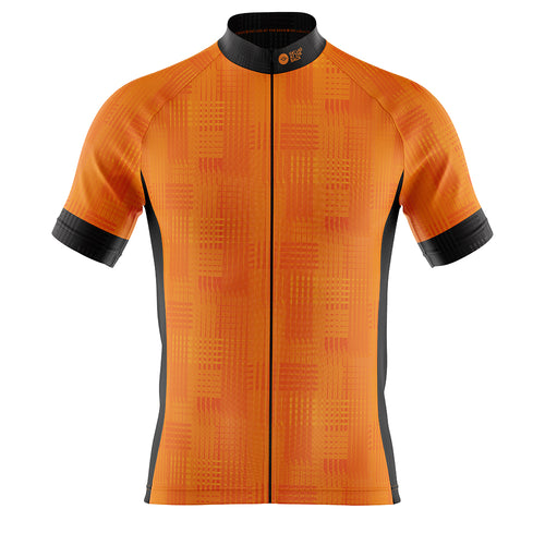 Big and Tall Mens Cove Cycling Jersey in Dash Orange