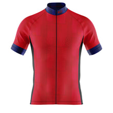 Load image into Gallery viewer, Big and Tall Mens Cove Cycling Jersey in Dash Red