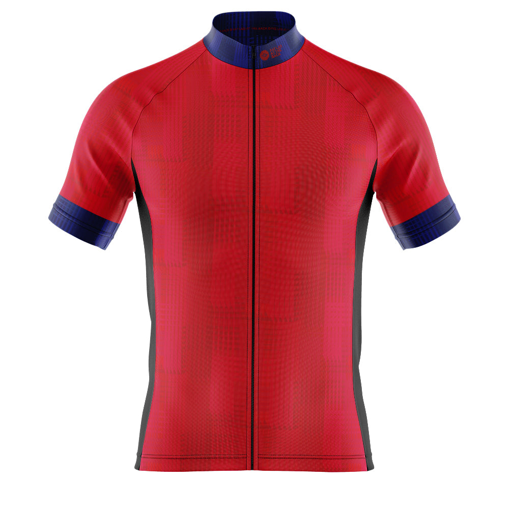 Big and Tall Mens Cove Cycling Jersey in Dash Red