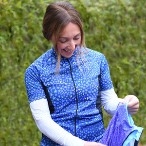 Women's Blue Ditsy Cycling Jersey