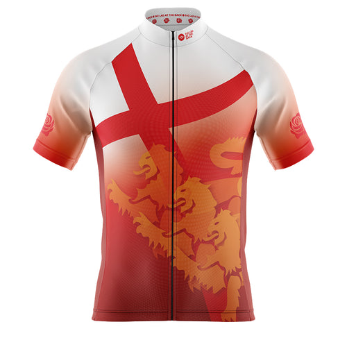 Mens Cove Cycling Jersey in England Flag