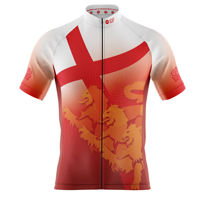 Big and Tall England Flag Cycling Jersey