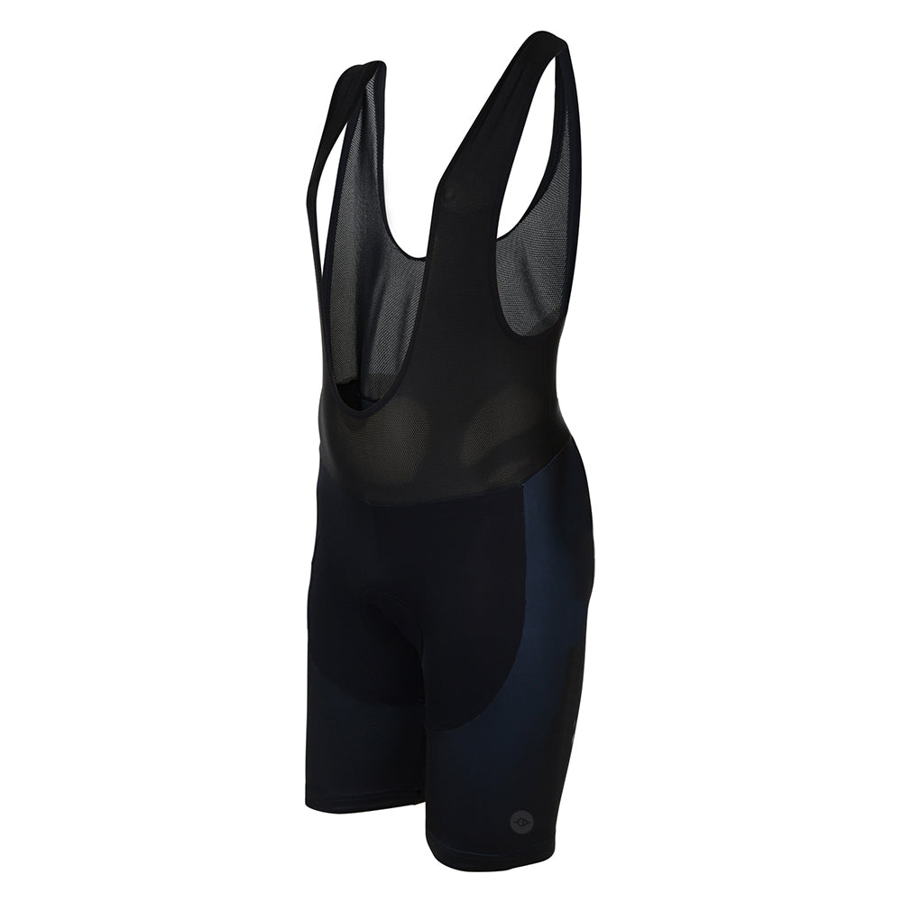 Big and Tall Mens All Black Padded Cycling Bib Shorts