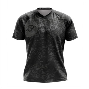 Big and Tall Mens Black Camo Mountain Bike Jersey