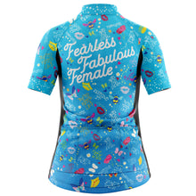 Load image into Gallery viewer, Women's Fearless Fabulous Female Cycling Jersey