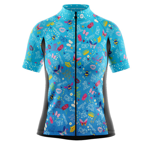 Women's Cove Cycling Jersey in Fearless Fab Female