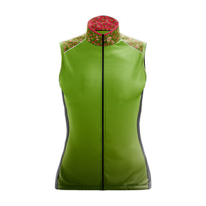 Women's Green Flutter Cycling Gilet