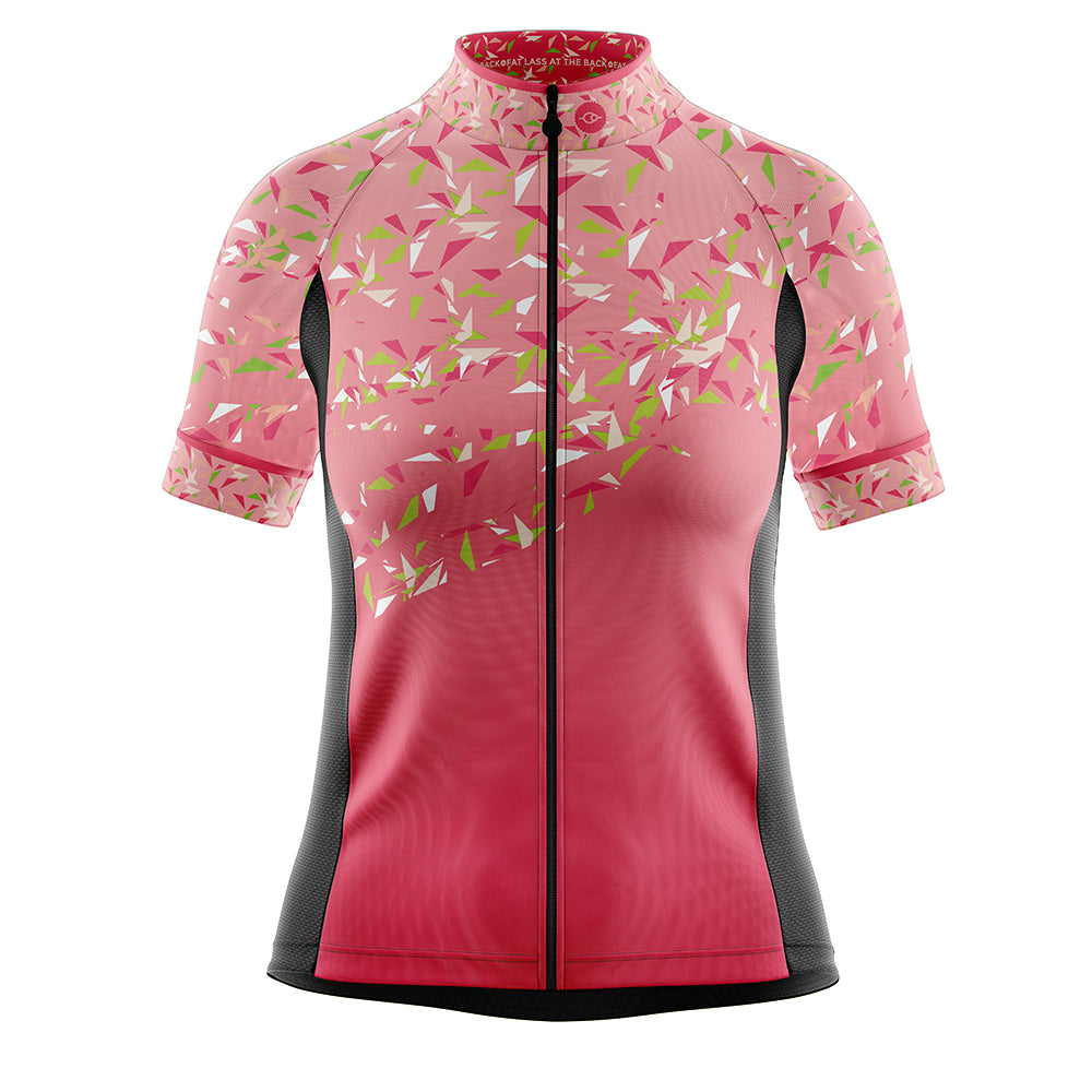Women's Pink Flutter Cycling Jersey