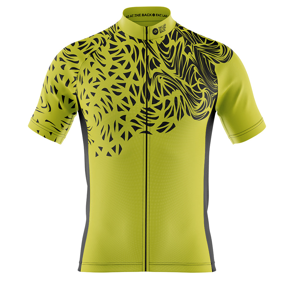 Mens Chartreuse Gnarly Cycling Jersey