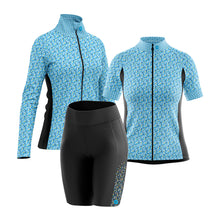 Load image into Gallery viewer, Women's Fleet Cycling Jersey in Gem Blue