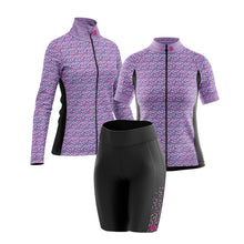 Load image into Gallery viewer, Women's Padded Cycling Shorts in Gem Purple