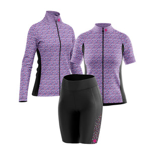 Women's Padded Cycling Shorts in Gem Purple