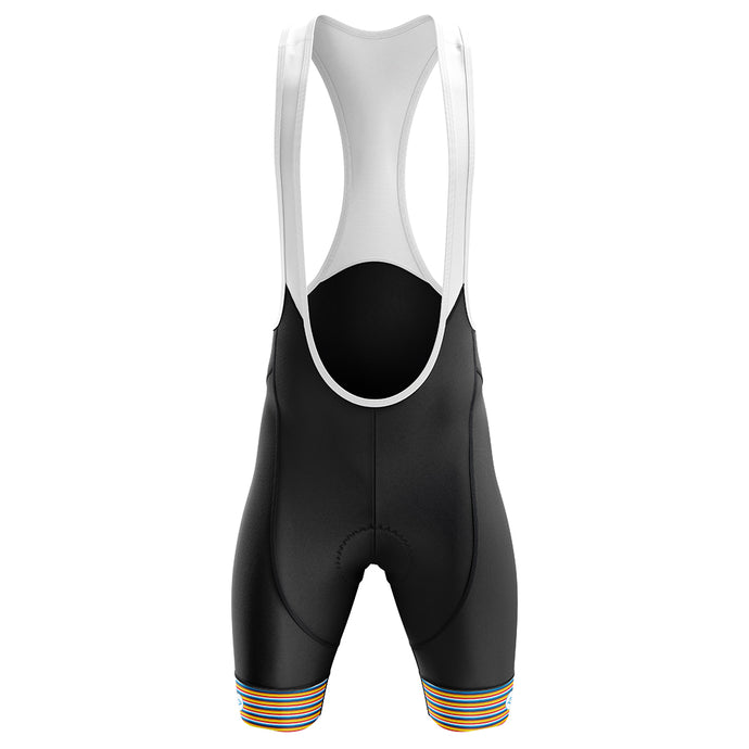 Mens Jewel Padded Cycling Bib Shorts in Stripe