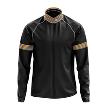 Load image into Gallery viewer, Mens Black Stripe Cycling Rain Jacket