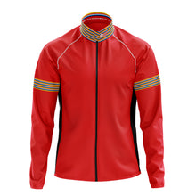 Load image into Gallery viewer, Mens Red Stripe Cycling Rain Jacket