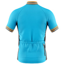Load image into Gallery viewer, Mens Blue Stripe Cycling Jersey - DUE END OF JUNE