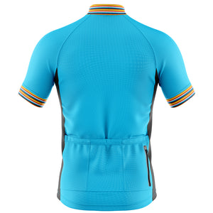 Mens Blue Stripe Cycling Jersey - DUE END OF JUNE
