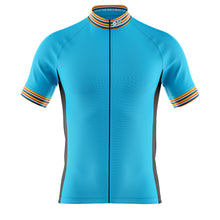 Load image into Gallery viewer, Big and Tall Mens Blue Stripe Cycling Jersey