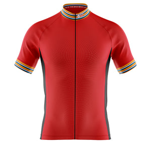 Big and Tall Mens Red Stripe Cycling Jersey - DUE END OF JUNE