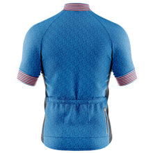 Load image into Gallery viewer, Mens Fleet Cycling Jersey in Graphic Blue