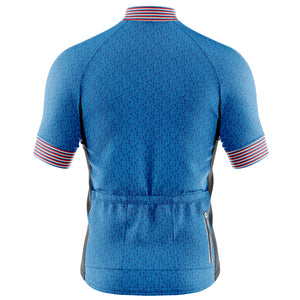 Mens Fleet Cycling Jersey in Graphic Blue