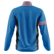 Load image into Gallery viewer, Mens Wind Water Resistant Cycling Jacket in Graphic Blue