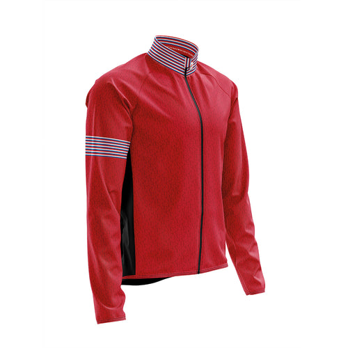 Big and Tall Mens Wind Water Resistant Cycling Jacket in Graphic Red