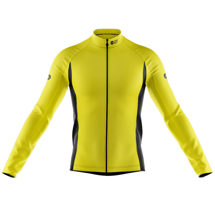 Mens Nesh Midweight Cycling Jersey in Hi Vis