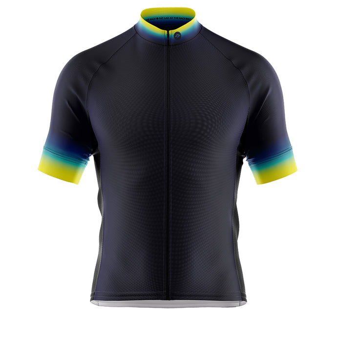 Big and Tall Mens Fleet Cycling Jersey in Horizon Blue