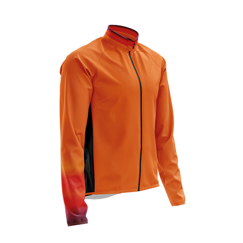 Big and Tall Mens Wind Water Resistant Cycling Jacket in Horizon Orange