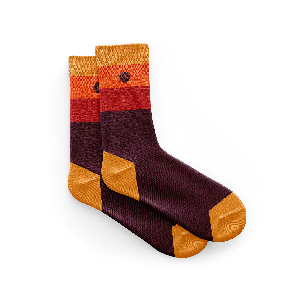 Cycling Socks in Horizon Orange