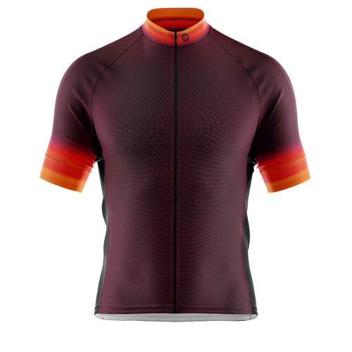 Big and Tall Mens Fleet Cycling Jersey in Horizon Aubergine