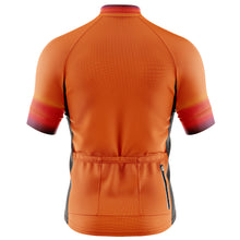 Load image into Gallery viewer, Big and Tall Mens Fleet Cycling Jersey in Horizon Orange