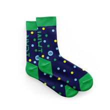 Load image into Gallery viewer, I Can I Am Blue Cycling Socks