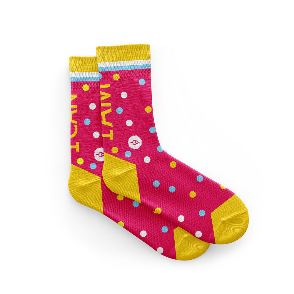 I Can I Am Pink Cycling Socks