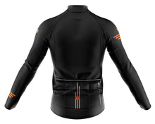 Load image into Gallery viewer, Mens Fleet Thermal Cycling Jersey in Jaggered Black