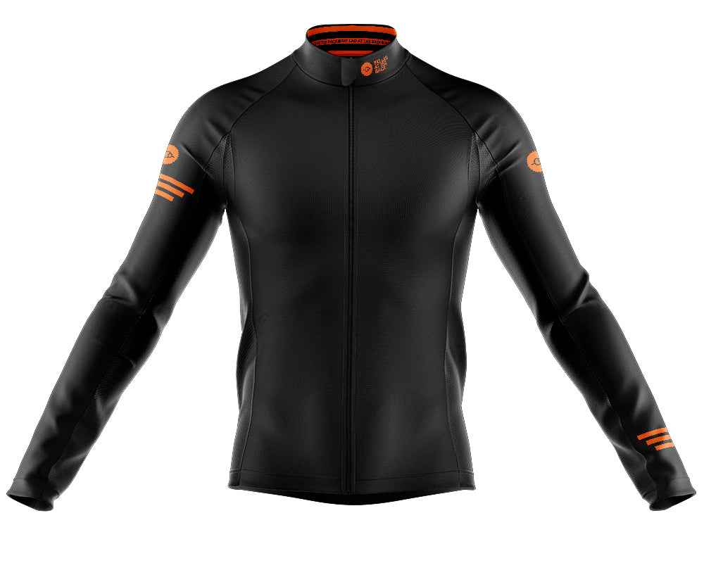 Big and Tall Mens Black Jaggered Long Sleeve Heavy Weight Jersey