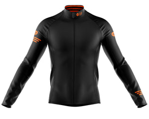 Mens Fleet Thermal Cycling Jersey in Jaggered Black