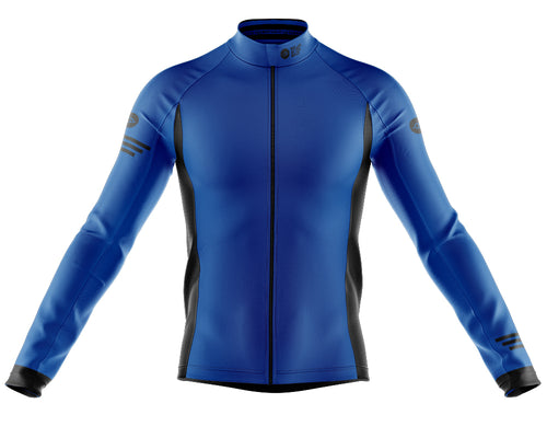 Mens Blue Jaggered Long Sleeve Heavy Weight Jersey