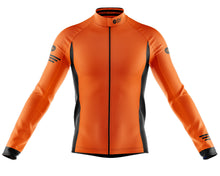Load image into Gallery viewer, Big and Tall Mens Orange Jaggered Long Sleeve Heavy Weight Jersey