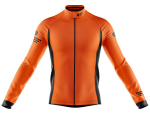 Big and Tall Mens Orange Jaggered Long Sleeve Heavy Weight Jersey