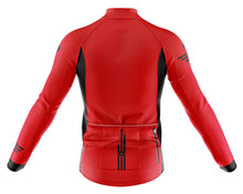 Load image into Gallery viewer, Mens Fleet Thermal Cycling Jersey in Jaggered Red