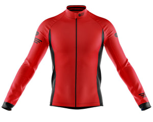 Mens Fleet Thermal Cycling Jersey in Jaggered Red