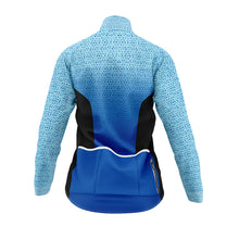 Load image into Gallery viewer, Women's Blue Kaleidoscope Cycling Jacket