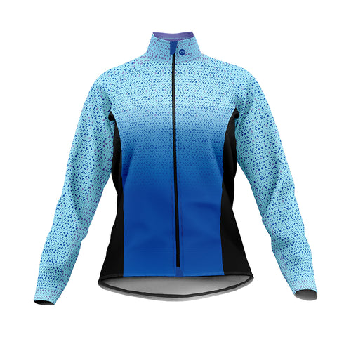 Women's Blue Kaleidoscope Cycling Jacket