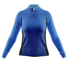 Load image into Gallery viewer, Women's Blue Kaleidoscope Cycling Jersey