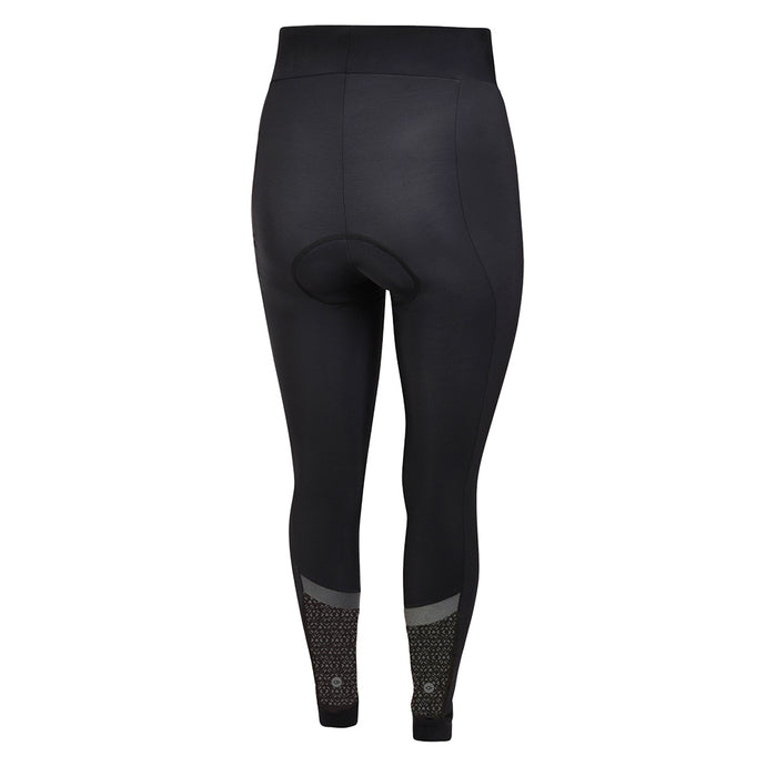 Women's Black Kaleidoscope Thermal Padded Cycling Tights