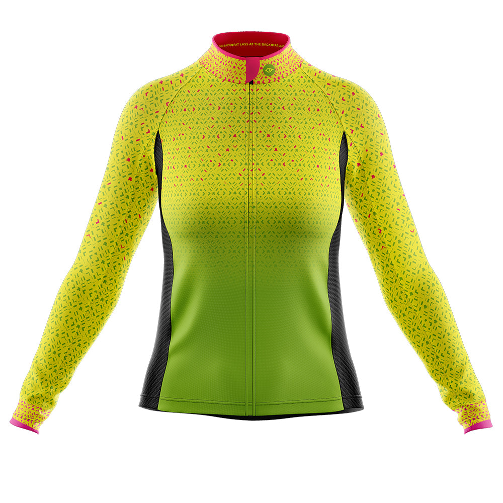 Women's Hi Vis Kaleidoscope Cycling Jersey